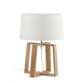 Lampe BLISS - H44cm - tissu et bois - Faro