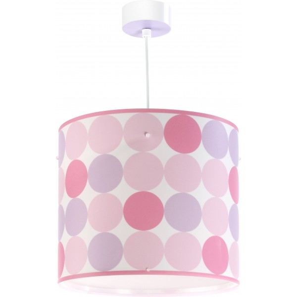 Suspension enfant colors rose dalber sur luminaire for Luminaire chambre ado fille