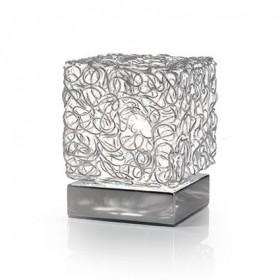 Lampe QUADRO - maille alu - H15cm - Ideal-Lux
