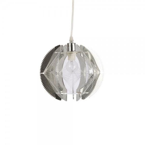 Suspension THE WIRE - Ø23cm - acrylique chrome - Muno