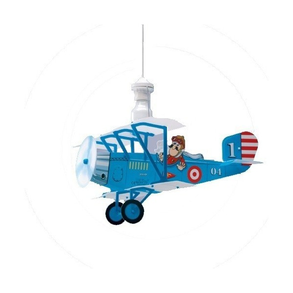Suspension enfant AVION BIPLANE - L59cm - PVC - Lineazero