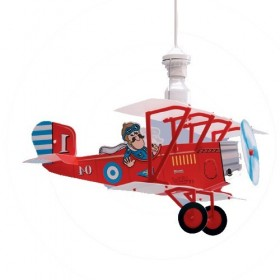 Suspension enfant - AVION BIPLANE - Lineazero