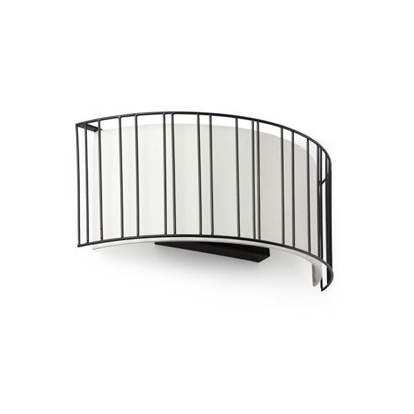 Applique LINDA - L38cm - acier et tissu - Faro