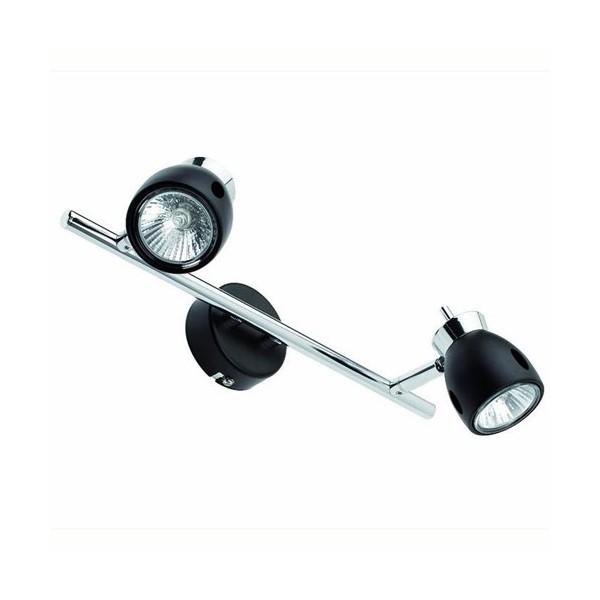 Applique 2 spots MIKA - noir - 2xGU10 50W - Faro