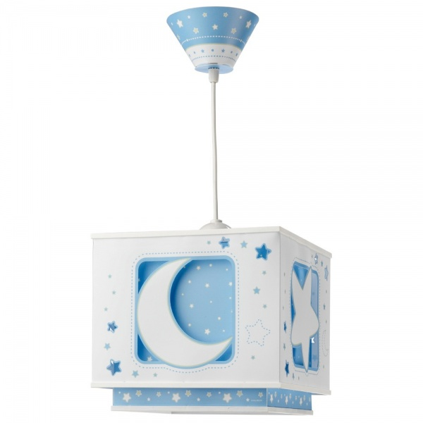 Suspension enfant MOON - bleu de la marque Dalber sur Luminaire-Discount