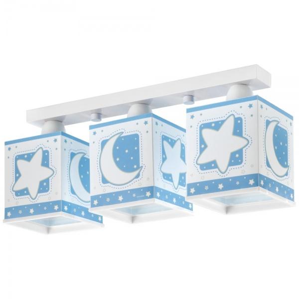 plafonnier enfant moon 3l bleu de la marque dalber sur. Black Bedroom Furniture Sets. Home Design Ideas