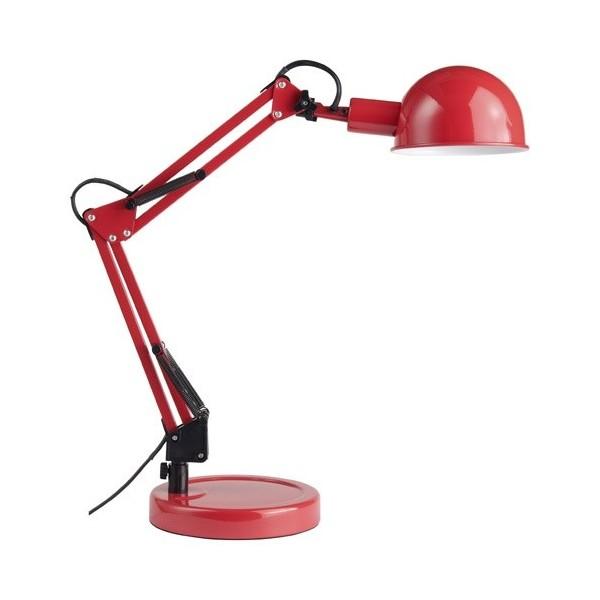 Lampe de bureau FELICIO- rouge -  E14 11W - Briliant