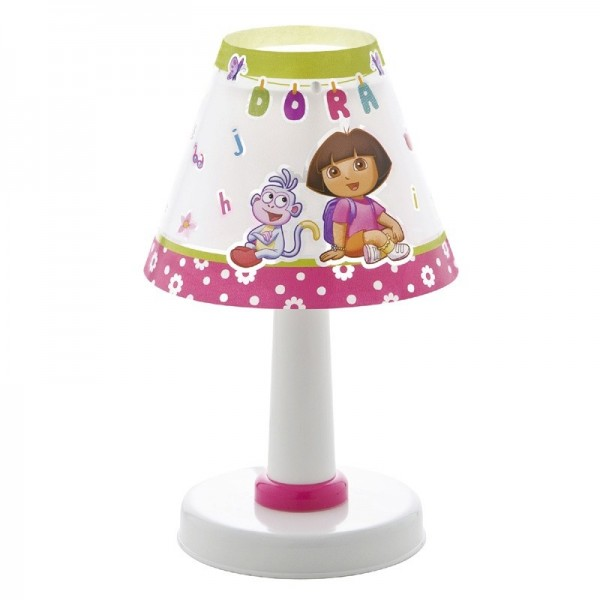 Lampe enfant DORA L'exploratrice - H26cm - PVC - Dalber