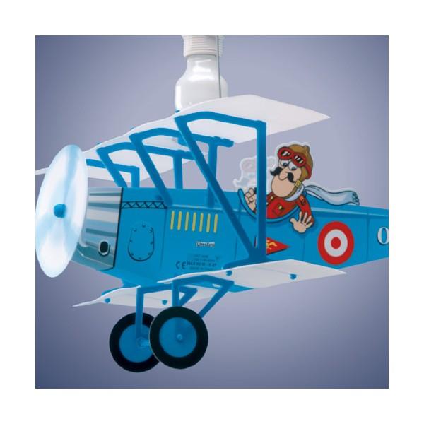 suspension design pas cher enfant avion biplane luminaire discount. Black Bedroom Furniture Sets. Home Design Ideas