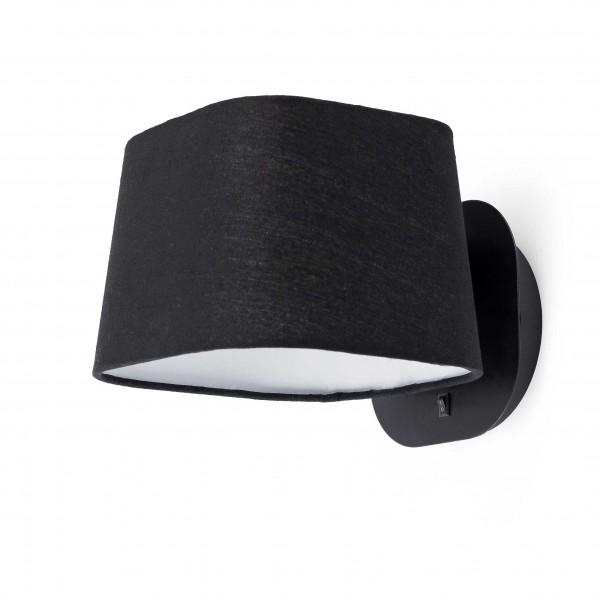 Applique SWEET - H18cm - tissu et métal noir - Faro