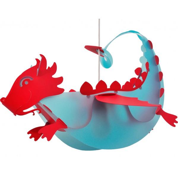 suspension enfant dragon bleu rmcoudert luminaire discount. Black Bedroom Furniture Sets. Home Design Ideas