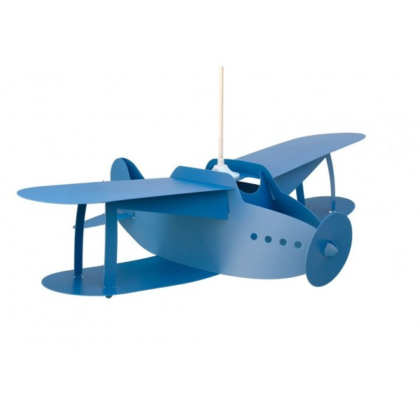 Suspension enfant AVION BIPLAN - bleu - priplak - RM Coudert