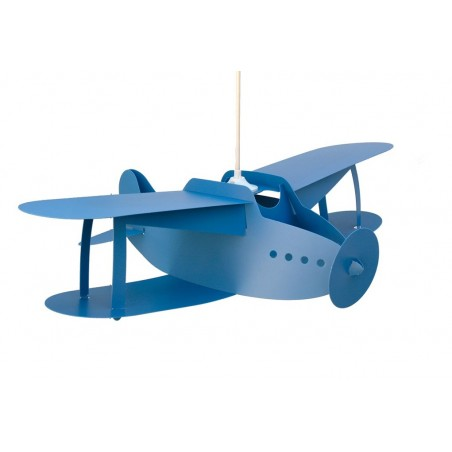 Suspension enfant AVION BIPLAN - bleu - priplak - RM Coudert