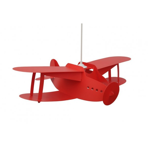 Suspension enfant AVION BIPLAN - rouge - priplak - RM Coudert