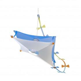 Suspension enfant CERF VOLANT- coloris bleu transparent - de la marque Rosemonde et Michel Coudert