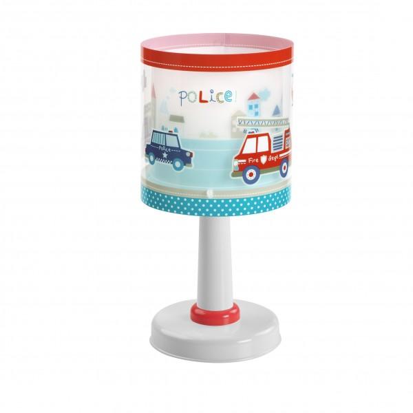 Lampe pvc police dalber h29 cm luminaire enfant for Table de chevet pour enfant