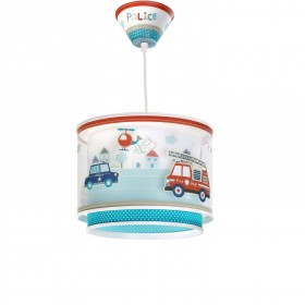 Suspension enfant POLICE - Ø27cm - PVC - Dalber