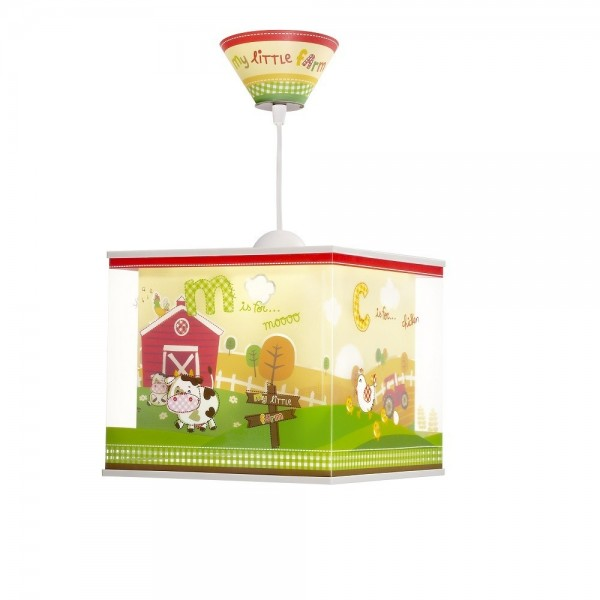 Suspension enfant MY LITTLE FARM - L24cm - PVC - Dalber