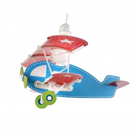 Suspension enfant BABY PLANE BLUE - H39cm - PVC - Dalber