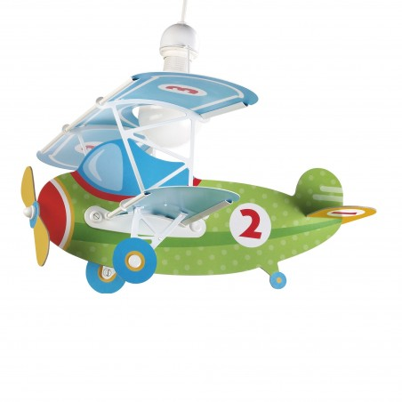 Suspension enfant BABY PLANE GREEN - H39cm - PVC - Dalber