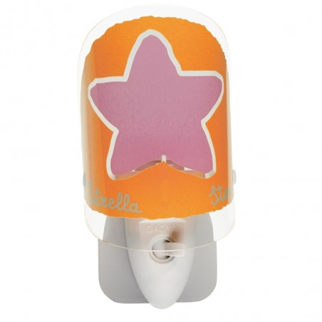 Veilleuse enfant NATURE ORANGE - H13cm - PVC - Dalber