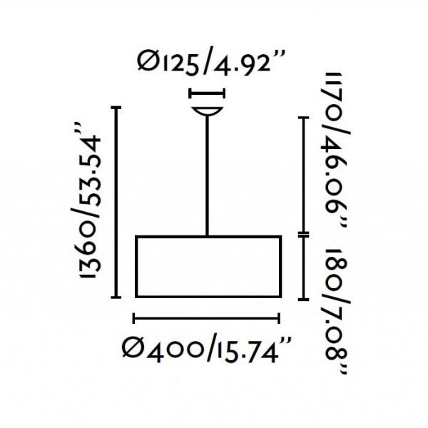 Suspension SEVEN - Ø40cm - Blanc - Faro