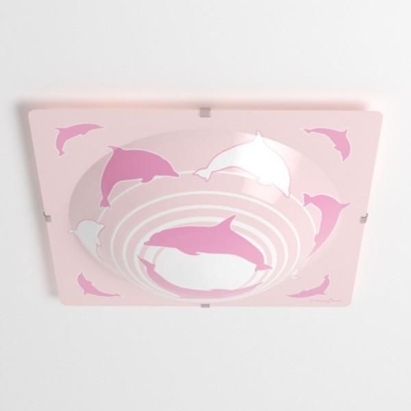 Plafonnier enfant DAUPHIN - L40cm - PVC - Lineazero