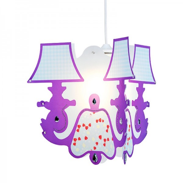 Suspension chambre fille Chandelier - Lineazero | Luminaire-Discount