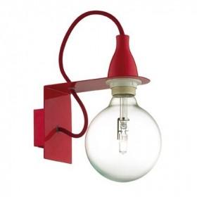 Applique MINIMAL - rouge - Ideal-Lux