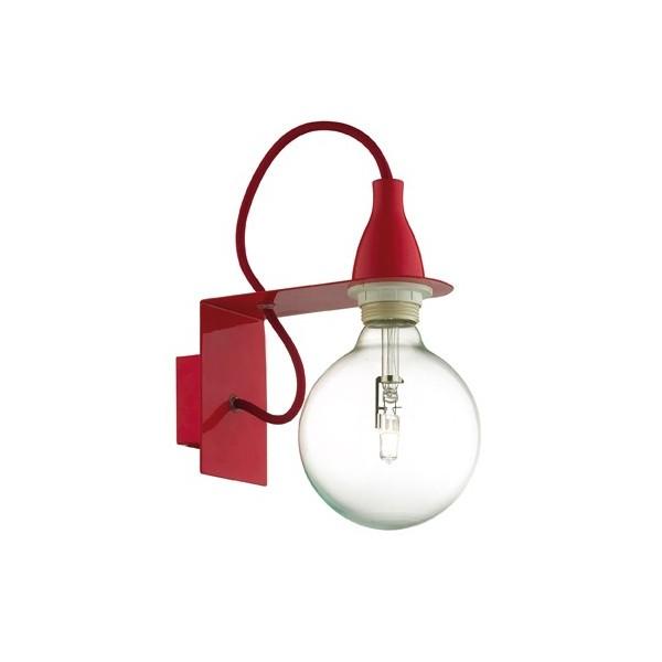 applique murale pas ch re minimal rouge luminaire discount. Black Bedroom Furniture Sets. Home Design Ideas