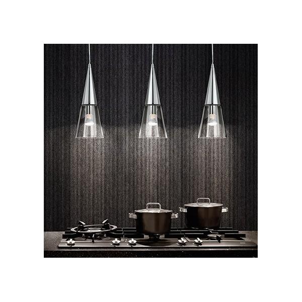 Suspension CONO - verre et chrome - Ø15cm - Ideal-Lux