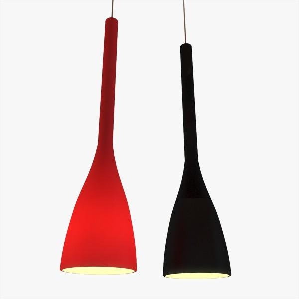 Suspension FLUT - verre soufflé - Ø14cm - Ideal-Lux