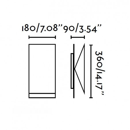 Applique HOMS - metal blanc - orientable - Faro