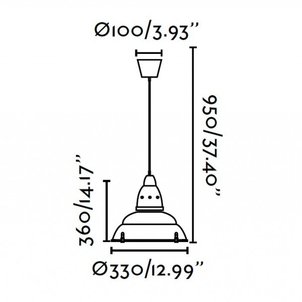 Suspension SIRIA - Ø33cm - alu - Faro