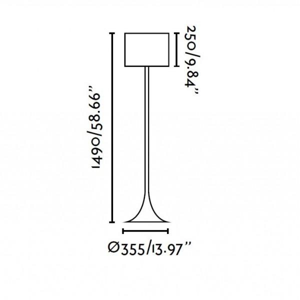 Lampadaire BLACK - Ø35cm H149cm - Tissu noir - Faro