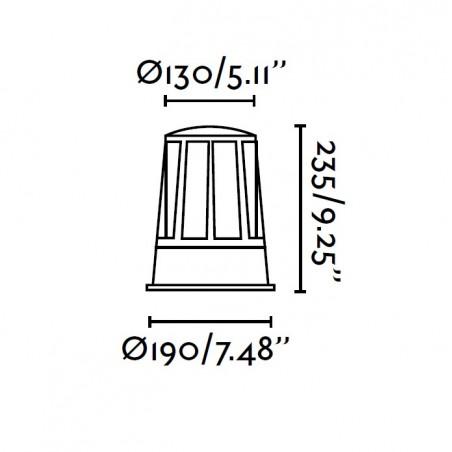 Borne extérieure SURAT - IP54 - H23cm - Faro