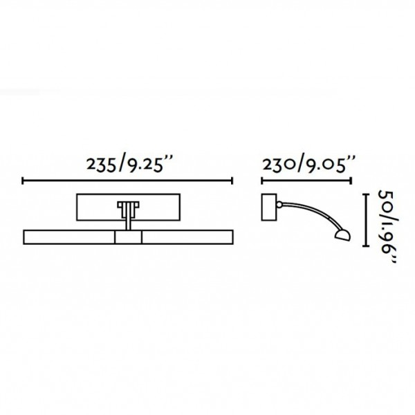 Applique tableau LUMIERE - 2x G9 40W incl - nickel - Faro