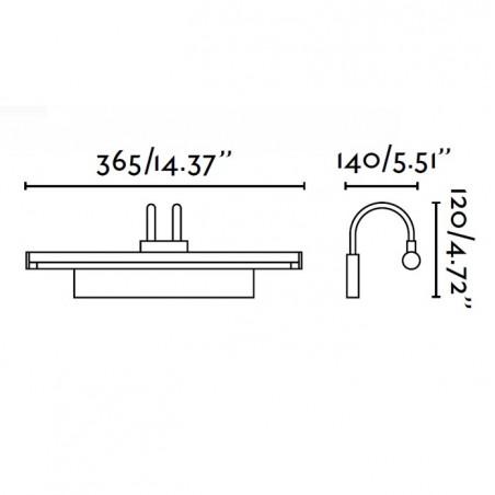 Applique tableaux DEGAS - 1XT5 incl - metal gris - Faro