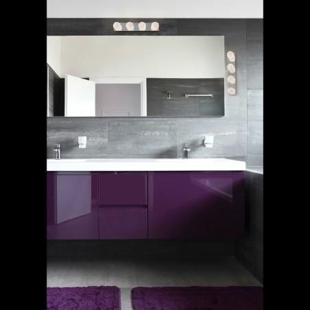Applique salle de bain LASS - IP44 - verre et chrome - Faro