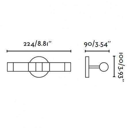 Applique salle de bain - RELAX 2 - G9 40W - IP44 - Faro