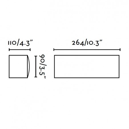 Applique exterieur ANCORA - IP44 - alu et PVC - Faro