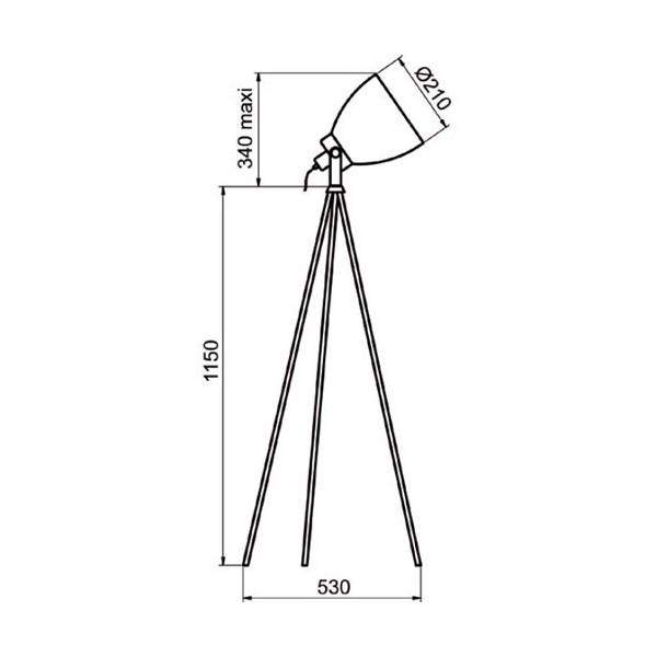 Lampadaire CAMERA - H149 cm - 2 coloris - Aluminor