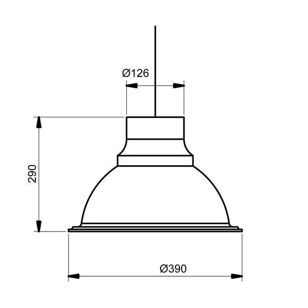 Suspension LOFT - Ø39cm - 2 coloris - Aluminor