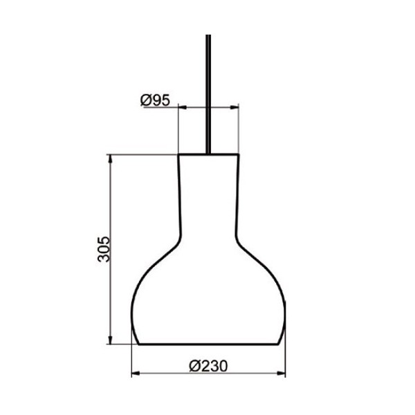Suspension S-280 - Ø23cm - ebène - Aluminor