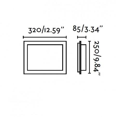 Applique DIULA - verre satiné - H25cm - Faro