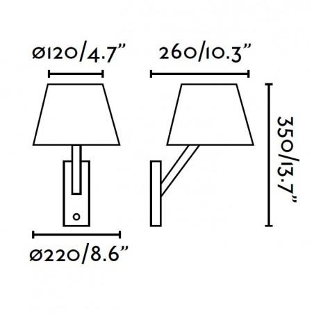 Applique MOMA - tissu - noir ou blanc - H35cm - Faro