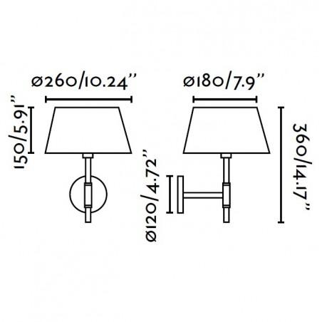 Applique MITIC - tissu et nickel - H36cm - Faro
