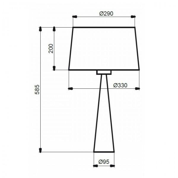 Lampe TOTEM - H58cm - PVC laqué - blanc ou noir - Aluminor