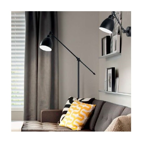 applique murale pas ch re newton noir luminaire discount. Black Bedroom Furniture Sets. Home Design Ideas