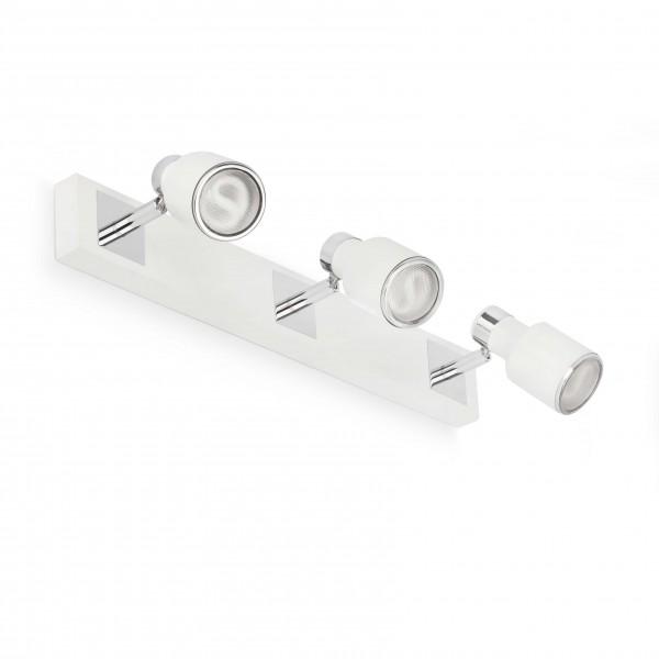reglette 3 spots blat blanc faro sur luminaire discount. Black Bedroom Furniture Sets. Home Design Ideas